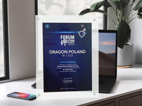 Kolejna nagroda dla firmy Dragon!