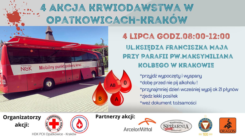 4 Wielka Akcja Krwiodawstwa w Opatkowicach